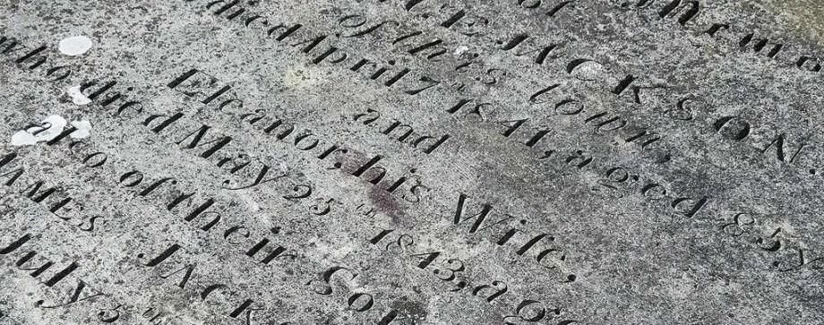 headstone engraving