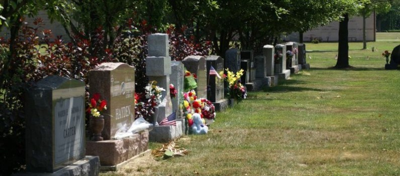 Photo of headstones