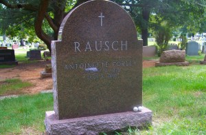 Colonial Rose Granite Headstone