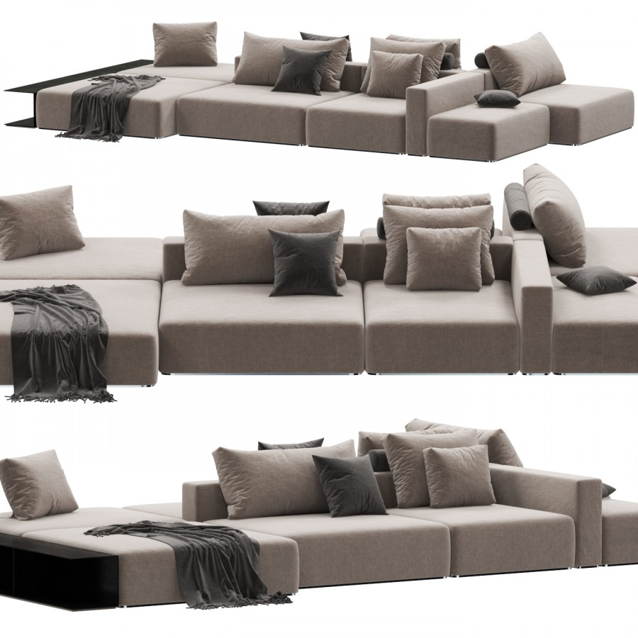 Sofa Poliform Westside Divano 3d Model For Vray