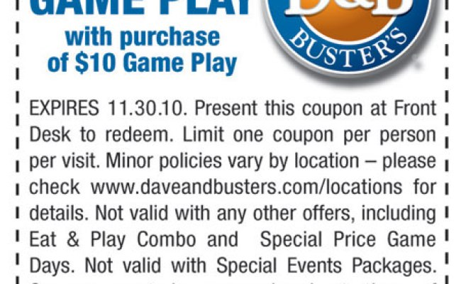 Dave And Busters Deals Coupons Smith And Wesson Gun Range