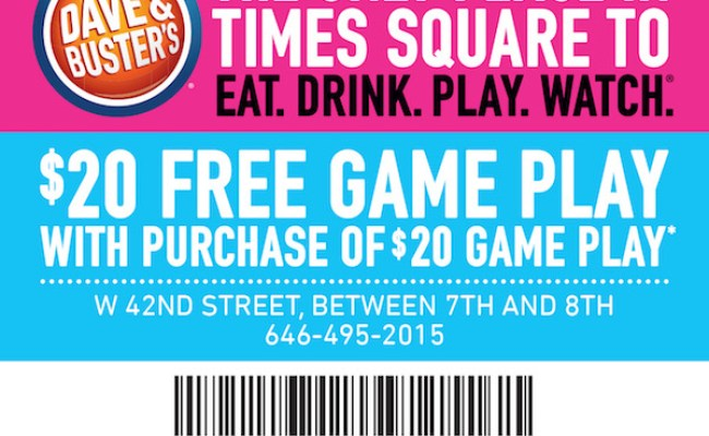 Dave Buster S Coupon City Guide Magazine