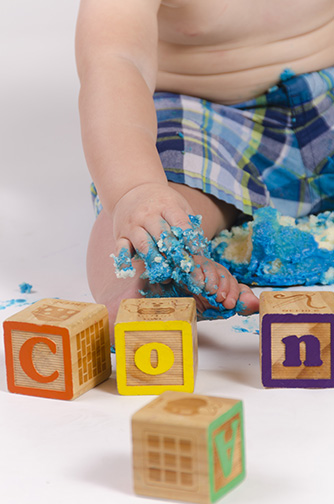 Chandler Baby Portrait Photographer Documents First Birthday Smash Cake