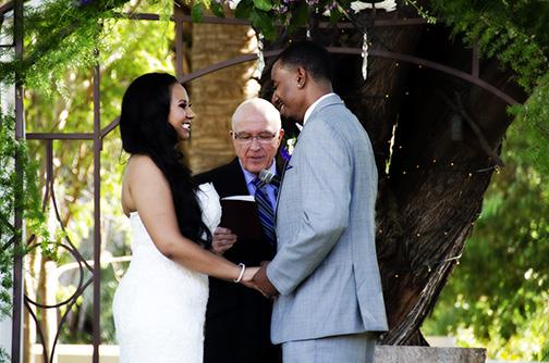 Photography of Rachael and Ryan Wedding at Secret Garden in Phoenix
