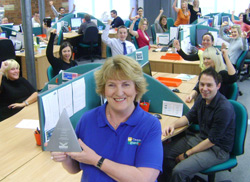 Caravan Guard Team Celebrate Customer Service Award