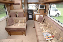 The lounge area in the Auto-Sleeper Broadway