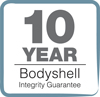 10 Year Bodyshell Logo