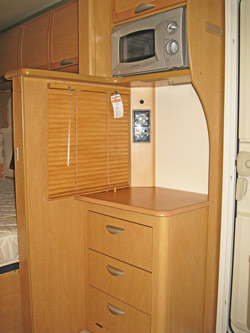 Sideboard replaces heater