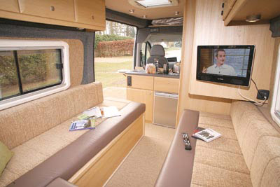 Looking forward in the Vantage Cub motorhome