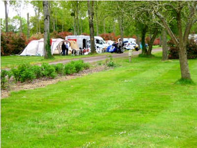 The campsite offers plenty of room for tents, caravans and motorhomes