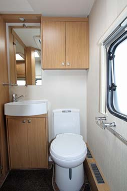 Elddis Compass Omega 540 shower room