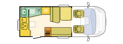 Adria Matrix Axess 590 Floor Plan