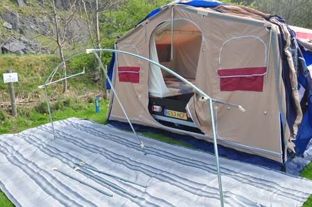 Trigano Galleon Camper set up 3