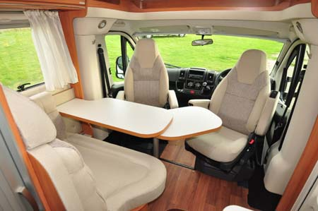 Hymer Van 314 Seating