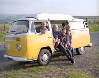 Hannah Cockroft and family campervan