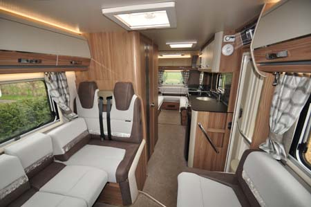 Swift Bolero 744 Interior looking back