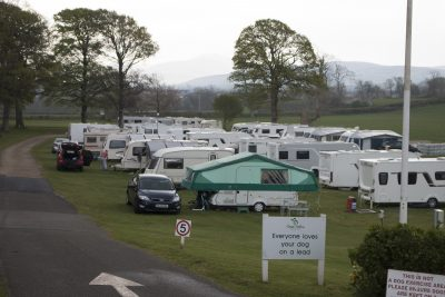 busy campsite