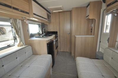 Coachman Pastiche 545 lounge into kitchen