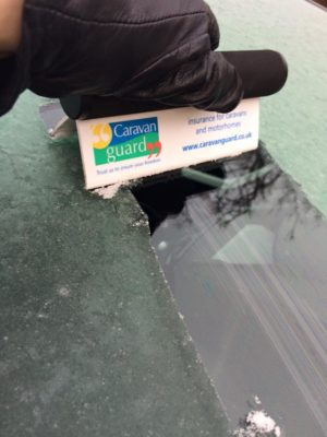 Caravan Guard ice scraper for winter