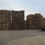 Storage yard with pallets ready for delivery