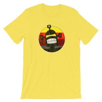 Retro 80s Surf Robot T-Shirt Yellow