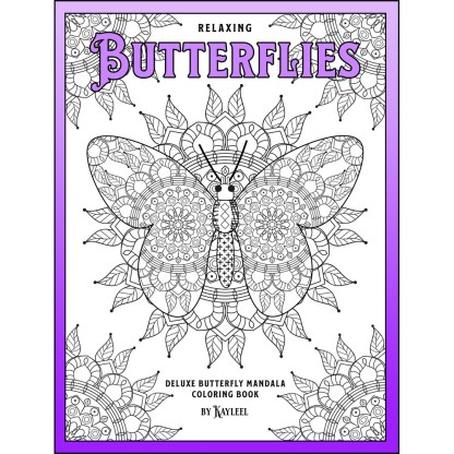 Relaxing Butterflies: Deluxe Butterfly Mandala Coloring Book