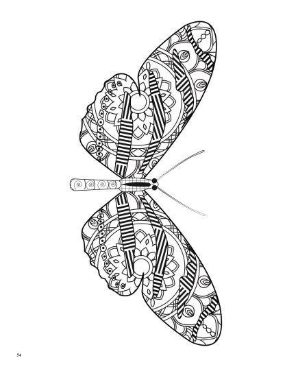 Relaxing Butterflies: Butterfly Mandala Coloring Book image 6