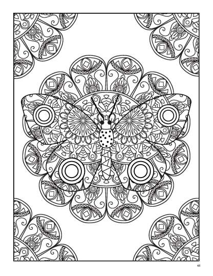 Relaxing Butterflies: Butterfly Mandala Coloring Book image 7