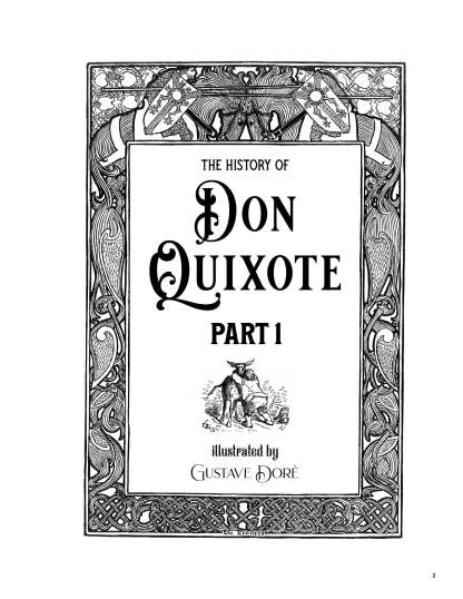 The History of Don Quixote Part 1: Gustave Doré Restored Special Edition Cover image 1