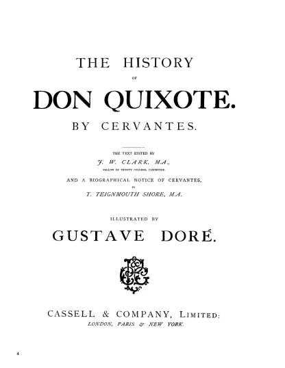 The History of Don Quixote Part 1: Gustave Doré Restored Special Edition Cover image 3