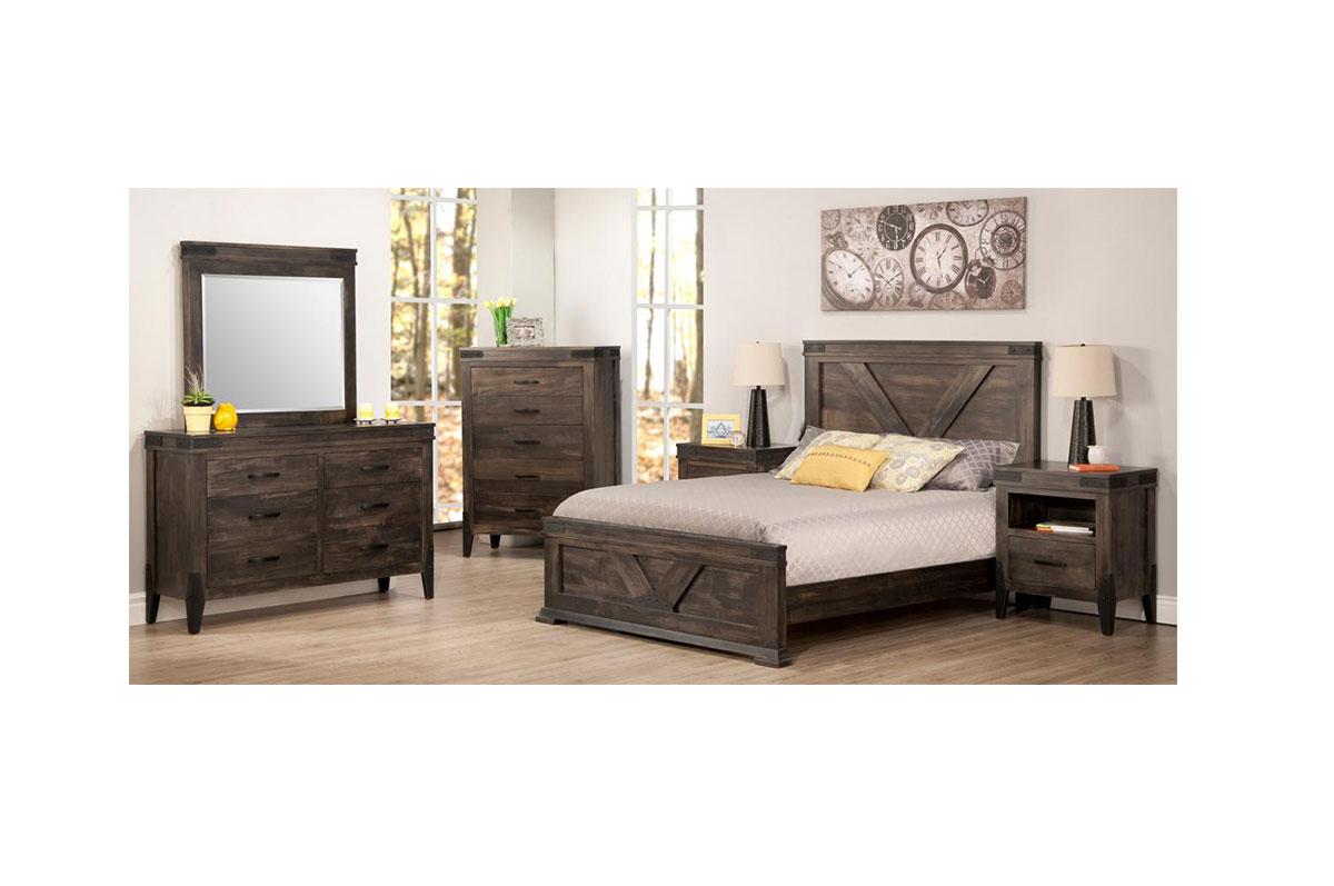 4 Piece Modus Kentfield Solid Wood Bedroom Set: Solid Wood Bedroom Furniture