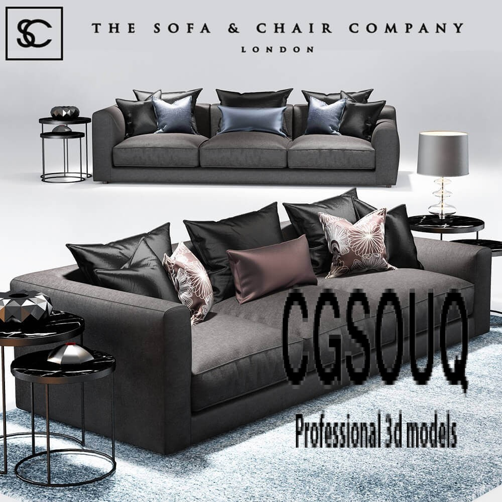 Sofa And Chair Company Elis Sofa The Sofa And Chair Company 3d Model
