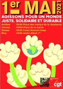 1er Mai 2021: Journée Internationale des Travailleuses et Travailleurs @ Jardin Albert 1er, Nice