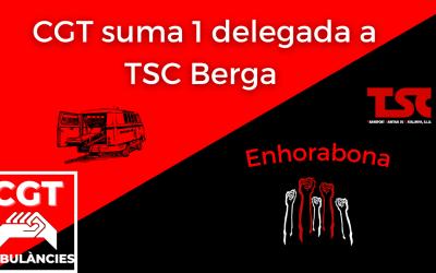 CGT treu una delegada a les eleccions de TSC Berga