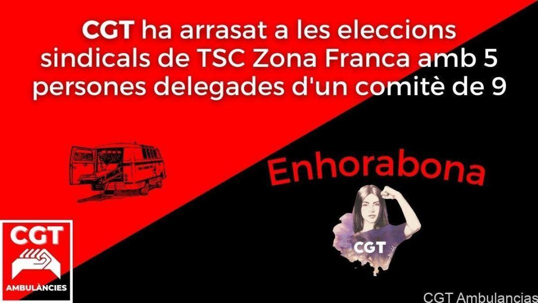 CGT suma 5 delegades a TSC Zona Franca