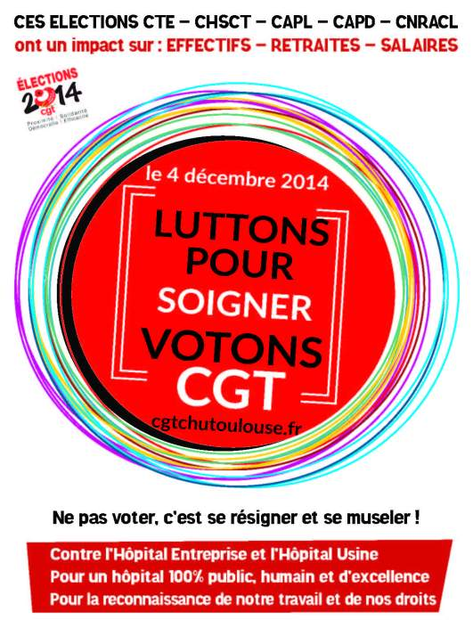 affiche Election 2014 CGT