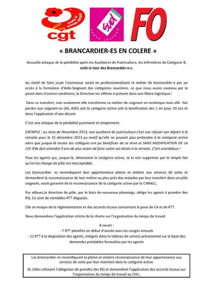 BRANCARDIERS EN COLERE