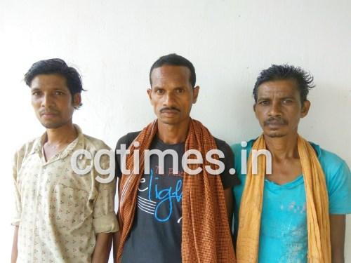 करकेली साप्ताहिक बाजार में आरक्षक 'मज्जी सोमा' की हत्या में शामिल 03 स्थाई वारंटी गिरफ्तार, बेदरे थाने की कार्यवाही