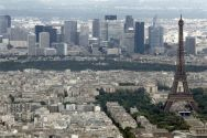 536382-the-eiffel-tower-and-la-defence-business-district-are-seen-in-an-aerial-view-in-paris-on-bastille-da