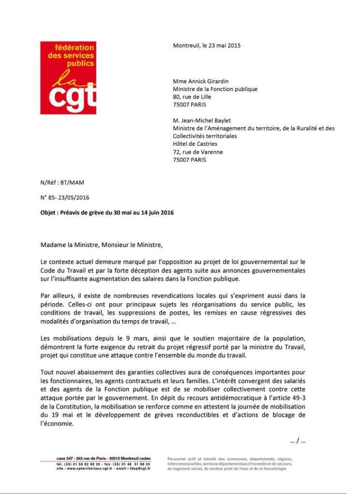 Lettre FSP