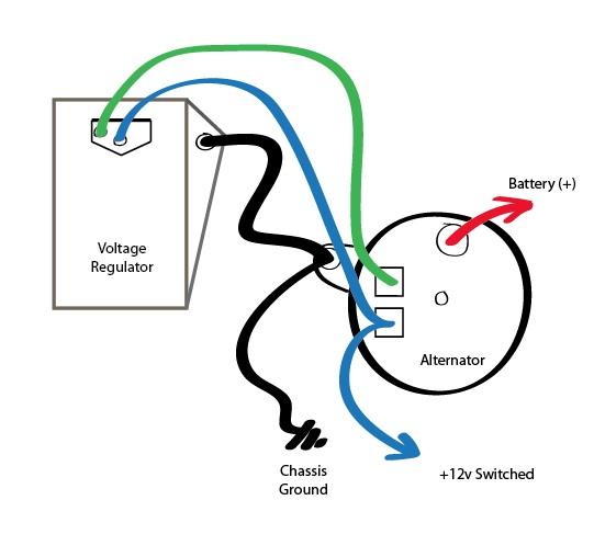 External Alternator Wiring Diagram