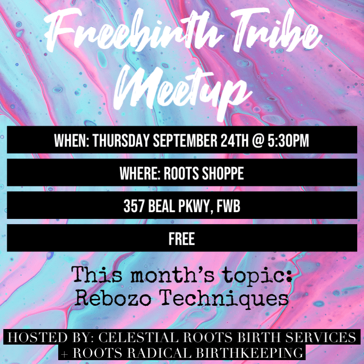 Freebirth Tribe Meetup (September 24th 5:30PM-6:30PM)