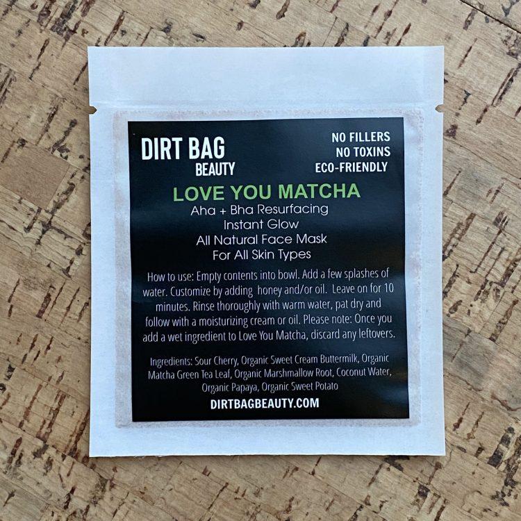 Organic Face Mask - Love You Matcha (Single Use)