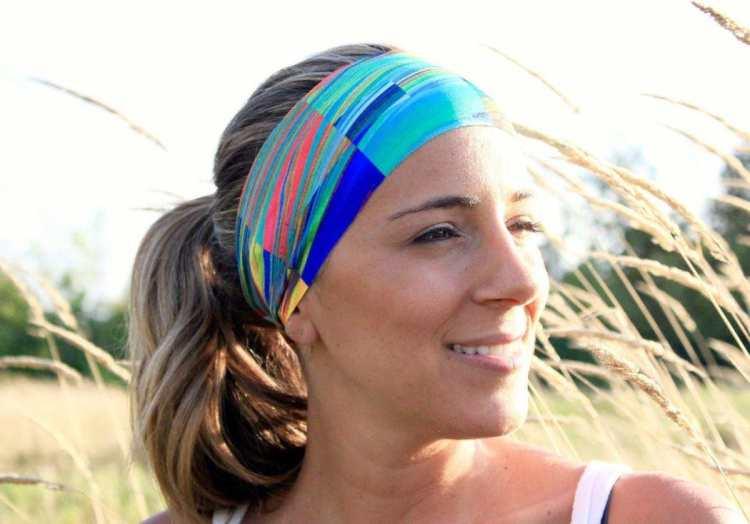 Yoga Headband - Aqua Magic
