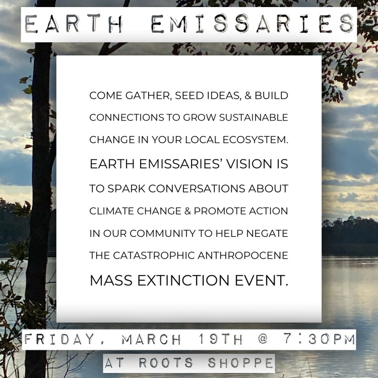 Earth Emissaries Meetup (March 19th 7:30pm-8:30pm)