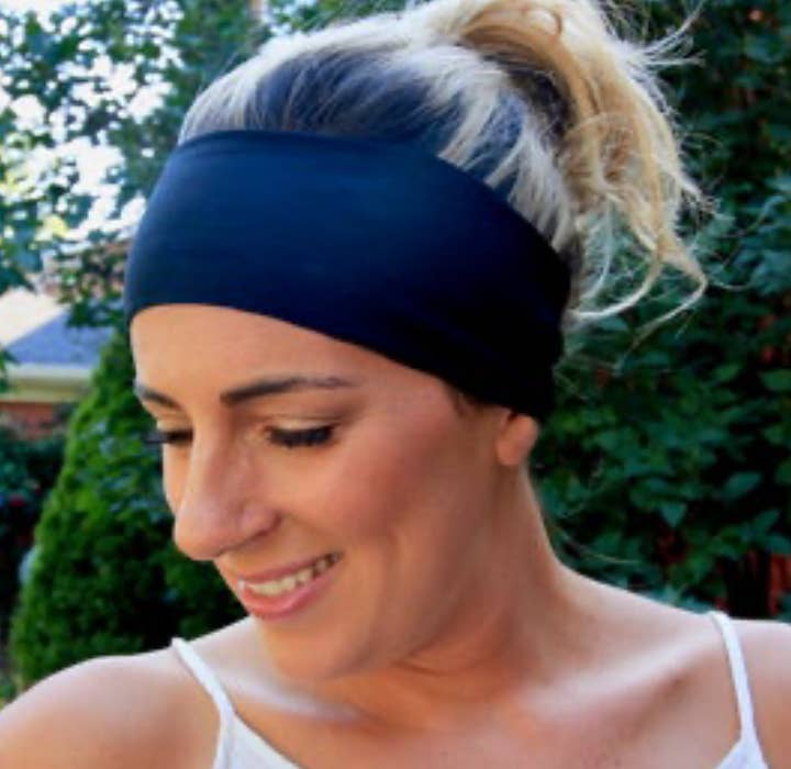 Yoga Headband - Plain Black