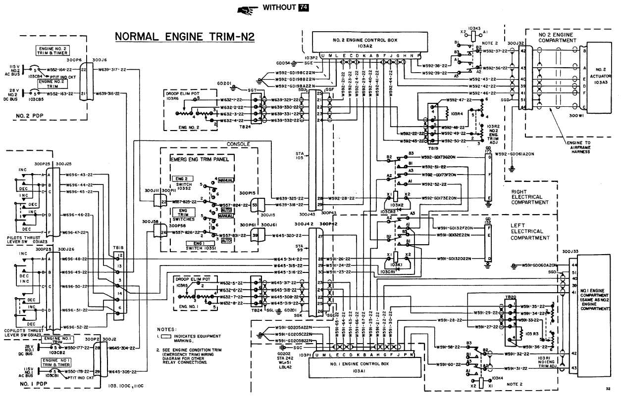 POWER TURBINE CONTROL SYSTEM (N2) WIRING DIAGRAM (Continued)