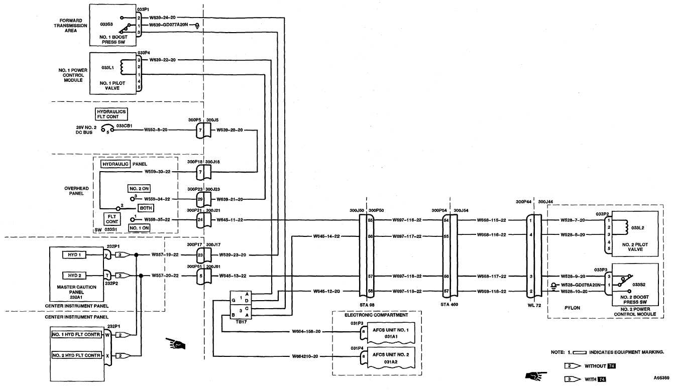 7-1.2 FLIGHT CONTROL HYDRAULIC SYSTEM WIRING DIAGRAM