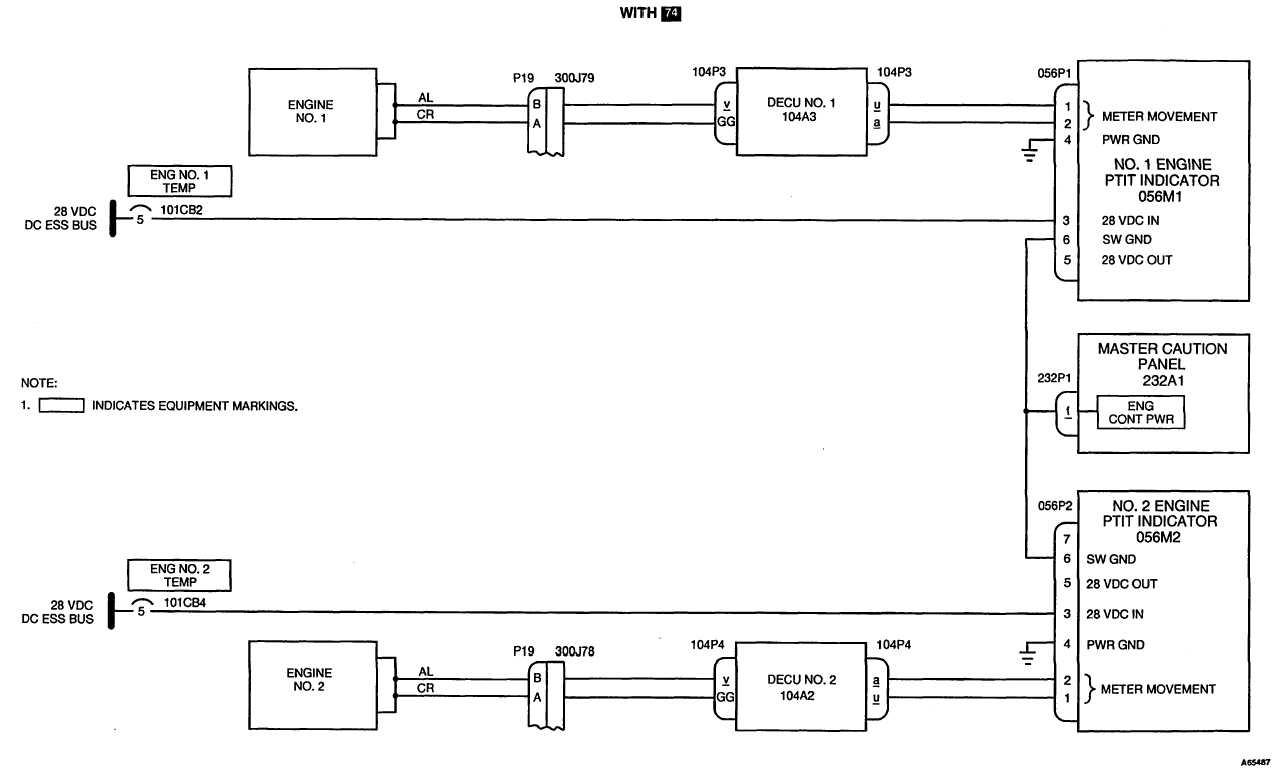 POWER TURBINE INLET TEMPERATURE SYSTEM SCHEMATIC DIAGRAM