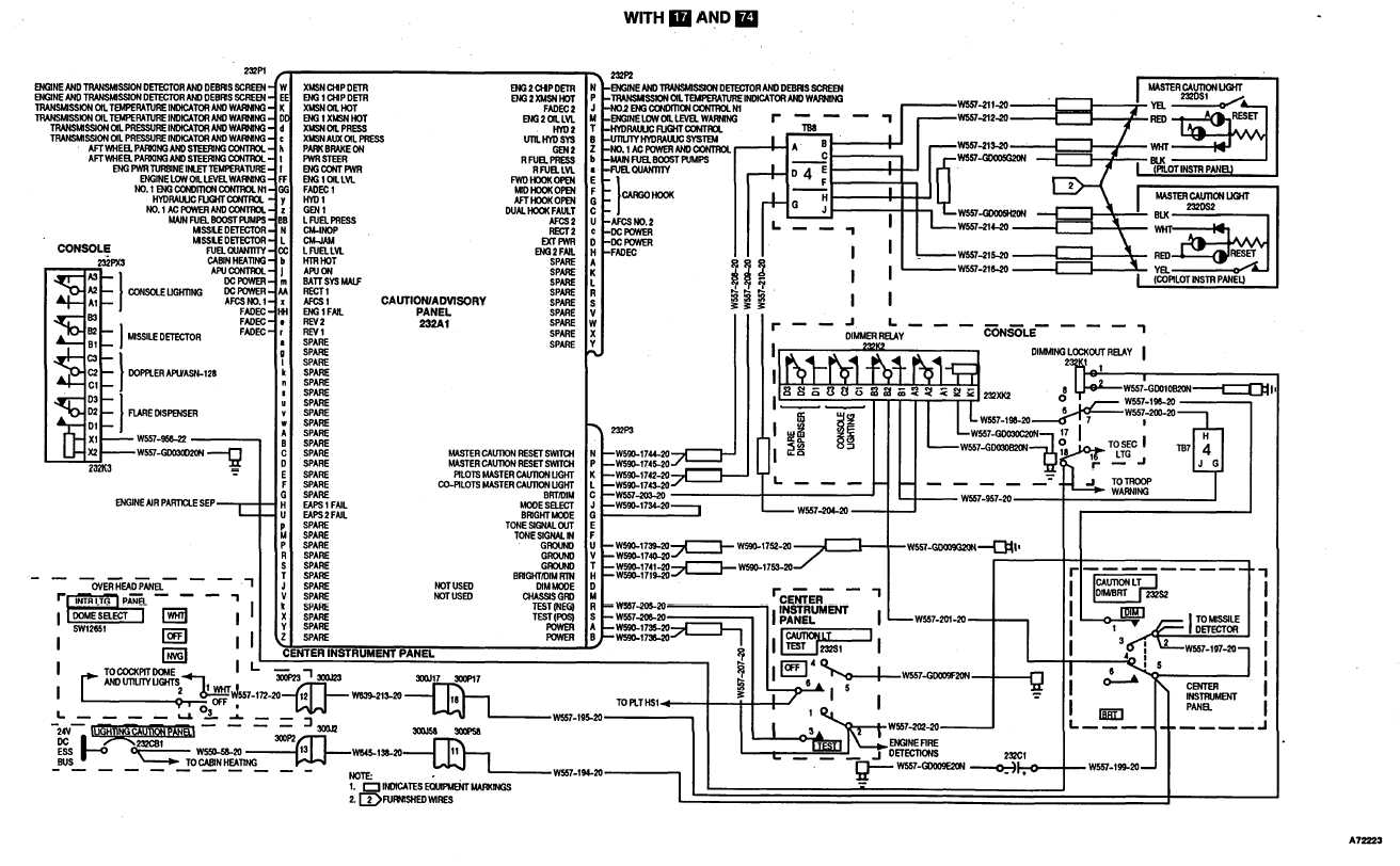 MASTER CAUTION LIGHTS WIRING DIAGRAM (Continued)